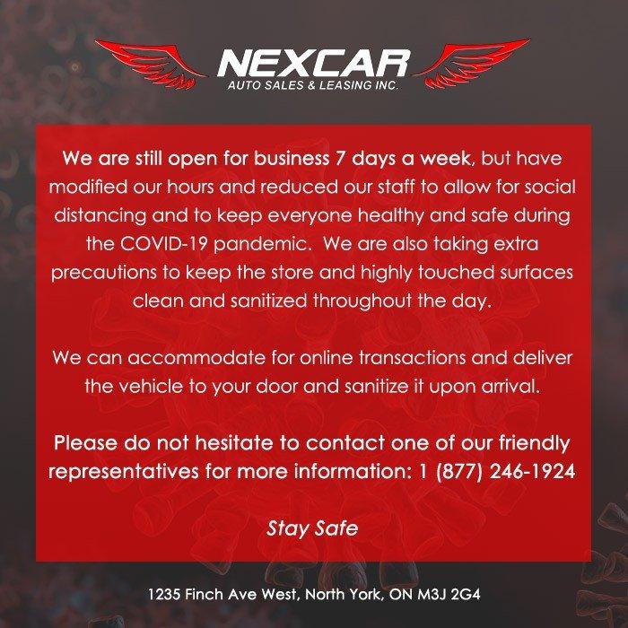 COVID-19 Banner - Nexcar Auto