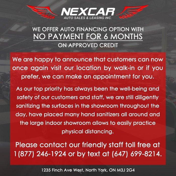 COVID-19 Notification Banner Nexcar Auto - June 1, 2020